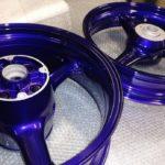 Motorcycle Wheels in Candy Purple